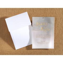 Προσκλητήριο γάμου μοντέρνο με ρυζόχαρτο Biniatian