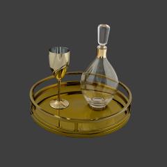 Σετ Γάμου Κουμπάρου με μεταλλικό χρυσό χρώμα