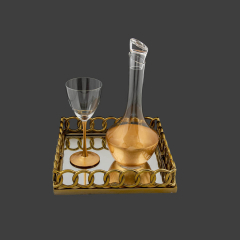 Σετ Γάμου Κουμπάρου στολισμένο με φύλλα χρυσού