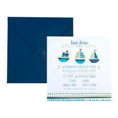 Προσκλητήρια Βάπτισης MyMastoras® 2018 - Σειρά Sailing Boats A