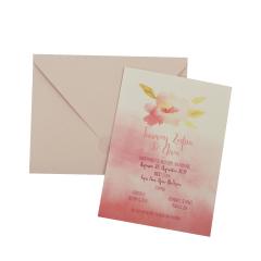 Προσκλητήρια Βάπτισης MyMastoras® – Watercolor flower A-Style