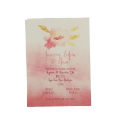 Προσκλητήρια Βάπτισης MyMastoras® – Watercolor flower N-Style