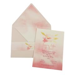 Προσκλητήρια Βάπτισης MyMastoras® – Watercolor flower O-Style