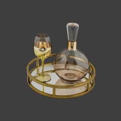Σετ Γάμου Κουμπάρου χρυσαφί με σαμπανιζέ λεπτομέρεια