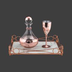 Σετ Γάμου Κουμπάρου με  μεταλλικό roz-gold χρώμα