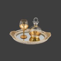 Σετ Γάμου Κουμπάρου με φύλλα χρυσού