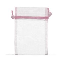 Πουγκί ρυζιού από οργάντζα 8x10 ροζ ανοιχτό 10 τεμ.