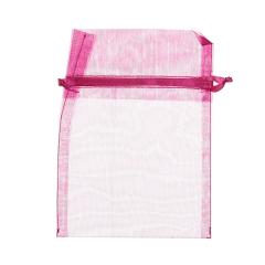 Πουγκί ρυζιού από οργάντζα 8x10 φούξια 10 τεμ.