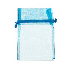 Πουγκί ρυζιού από οργάντζα 8x10 γαλάζιο 10 τεμ.
