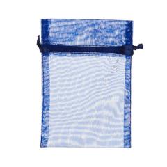 Πουγκί ρυζιού από οργάντζα 8x10 blue marine 10 τεμ.