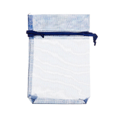 Πουγκί ρυζιού από οργάντζα 8x10 μπλε 10 τεμ.