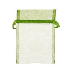 Πουγκί ρυζιού από οργάντζα 8x10 πράσινο 10 τεμ.