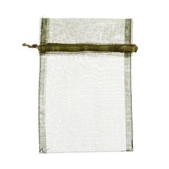 Πουγκί ρυζιού από οργάντζα 8x10 κυπαρισσί 10 τεμ.