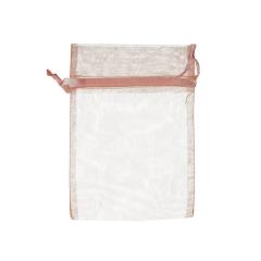 Πουγκί ρυζιού από οργάντζα 8x10 σομόν 10 τεμ.