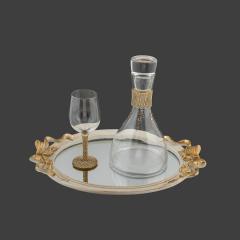 Σετ Γάμου Κουμπάρου χρυσή στρας τρέσα