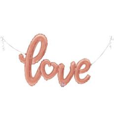 Μπαλόνι λέξη Love ροζ χρυσό 119εκ.