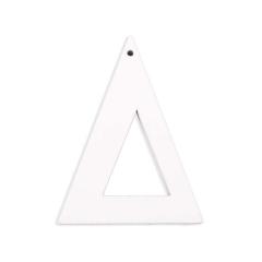 Ξύλινο γράμμα Δ λευκό 6εκ