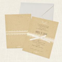 Προσκλητήρια Γάμου MyMastoras Lace Brown