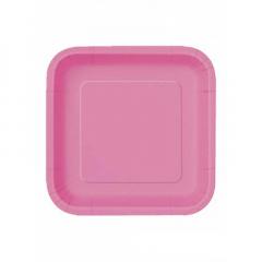 Πιάτο χάρτινο φαγητού σε φούξια χρώμα 23 εκ