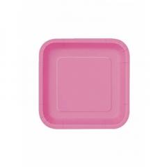 Πιάτο χάρτινο γλυκού σε φούξια χρώμα 17 εκ