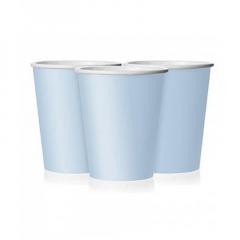 Ποτήρι χάρτινο σε σιέλ χρώμα 9 εκ