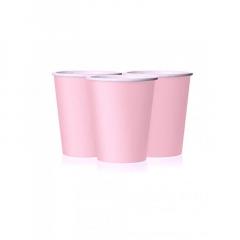 Ποτήρι χάρτινο σε ροζ χρώμα 9 εκ