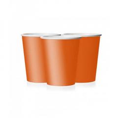 Ποτήρι χάρτινο σε πορτοκαλί χρώμα 9 εκ