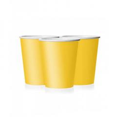 Ποτήρι χάρτινο σε κίτρινο χρώμα 9 εκ