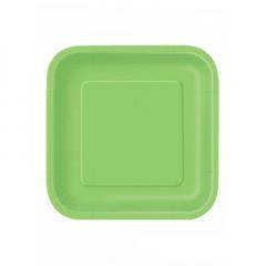 Πιάτο χάρτινο φαγητού σε λαχανί χρώμα 23 εκ