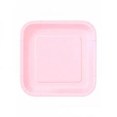Πιάτο χάρτινο φαγητού σε ροζ χρώμα 23 εκ