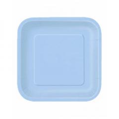 Πιάτο χάρτινο φαγητού σε σιέλ χρώμα 23 εκ