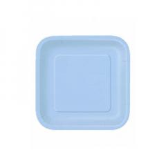Πιάτο χάρτινο γλυκού σε σιέλ χρώμα 17 εκ