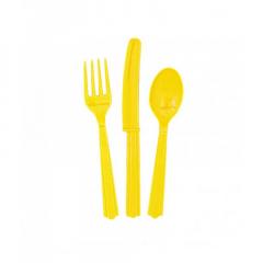 Μαχαιροπίρουνα Σετ κίτρινο