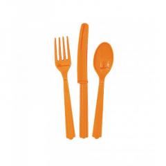 Μαχαιροπίρουνα Σετ πορτοκαλί