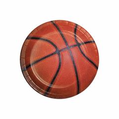 Χάρτινο πιάτο γλυκού σε θέμα μπάσκετ 8τεμ