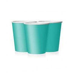 Ποτήρι χάρτινο σε τυρκουάζ χρώμα 9 εκ