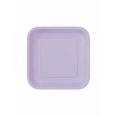 Πιάτο χάρτινο γλυκού σε λιλά χρώμα 17 εκ