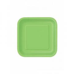 Πιάτο χάρτινο γλυκού σε λαχανί χρώμα 17 εκ