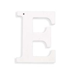 Ξύλινο γράμμα Ε λευκό 6εκ