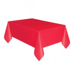 Πλαστικό τραπεζομάντηλο κόκκινο