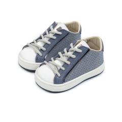 Δίχρωμα δετά sneaker απο ύφασμα και δέρμα Babywalker