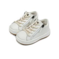 Δερμάτινο sneaker με πλαϊνό φερμουάρ Babywalker