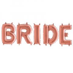 Μπαλόνια φράση Bride ροζ χρυσό 5τεμ.