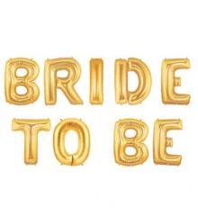Μπαλόνια φράση Bride To Be χρυσό 9τεμ.