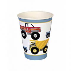 Χάρτινο ποτήρι με φορτηγάκια Party Trucks