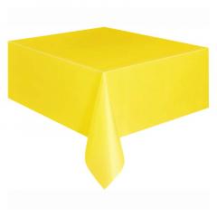 Πλαστικό τραπεζομάντηλο κίτρινο