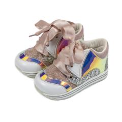 Δετά sneakers ύφασμα & δέρμα Babywalker