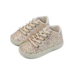 Δετά sneaker απο glitter ύφασμα Babywalker