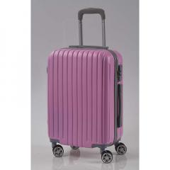 Βαλίτσα τρόλεϊ ροζ ματ