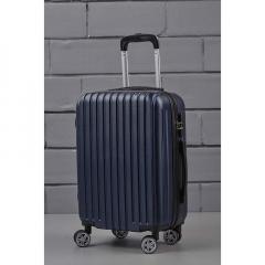 Βαλίτσα τρόλεϊ μπλε ματ